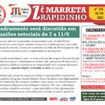 RAPIDINHO Nº 231 – Enquadramento será discutido em reuniões setoriais de 7 a 11/6